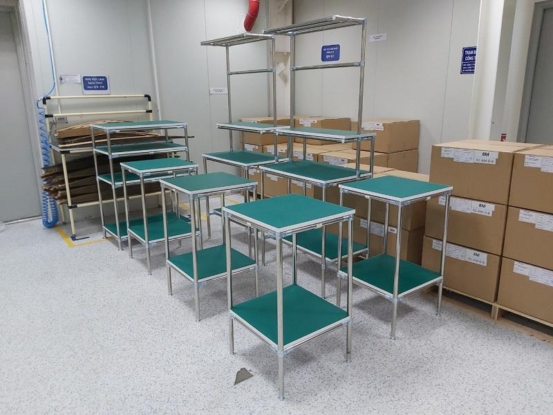 Gia công bàn lắp ráp công nghiệp số lượng lớn, đảm bảo chất lượng