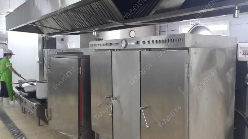 Sản xuất hệ thống chụp hút mùi inox cho khu bếp công nghiệp theo yêu cầu
