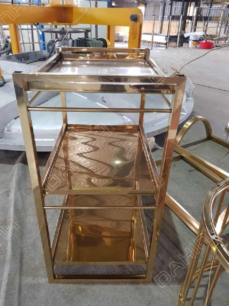 Gia công xe đẩy inox 3 tầng số lượng lớn, kích thước theo yêu cầu