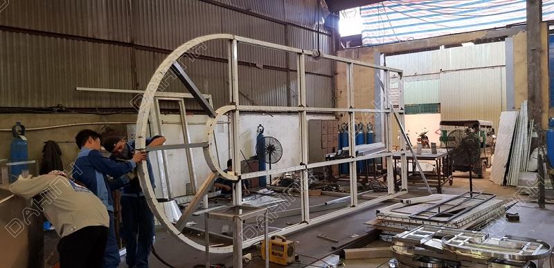 Xưởng cơ khí Đa Hình nhận làm cửa cổng inox theo yêu cầu