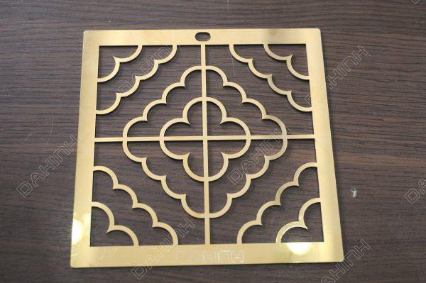Cắt laser hoa văn inox mạ vàng dày 1mm theo bản vẽ