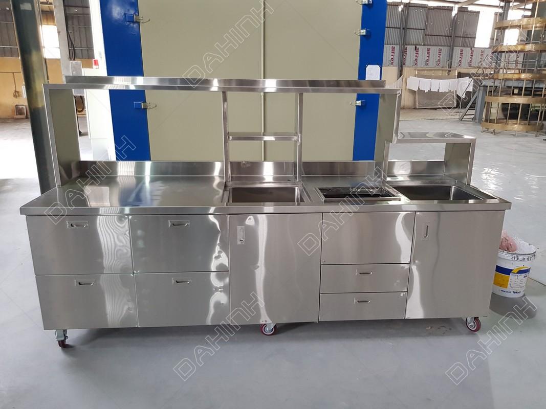 gia công tủ bếp inox - thiết bị bếp inox công nghiệp