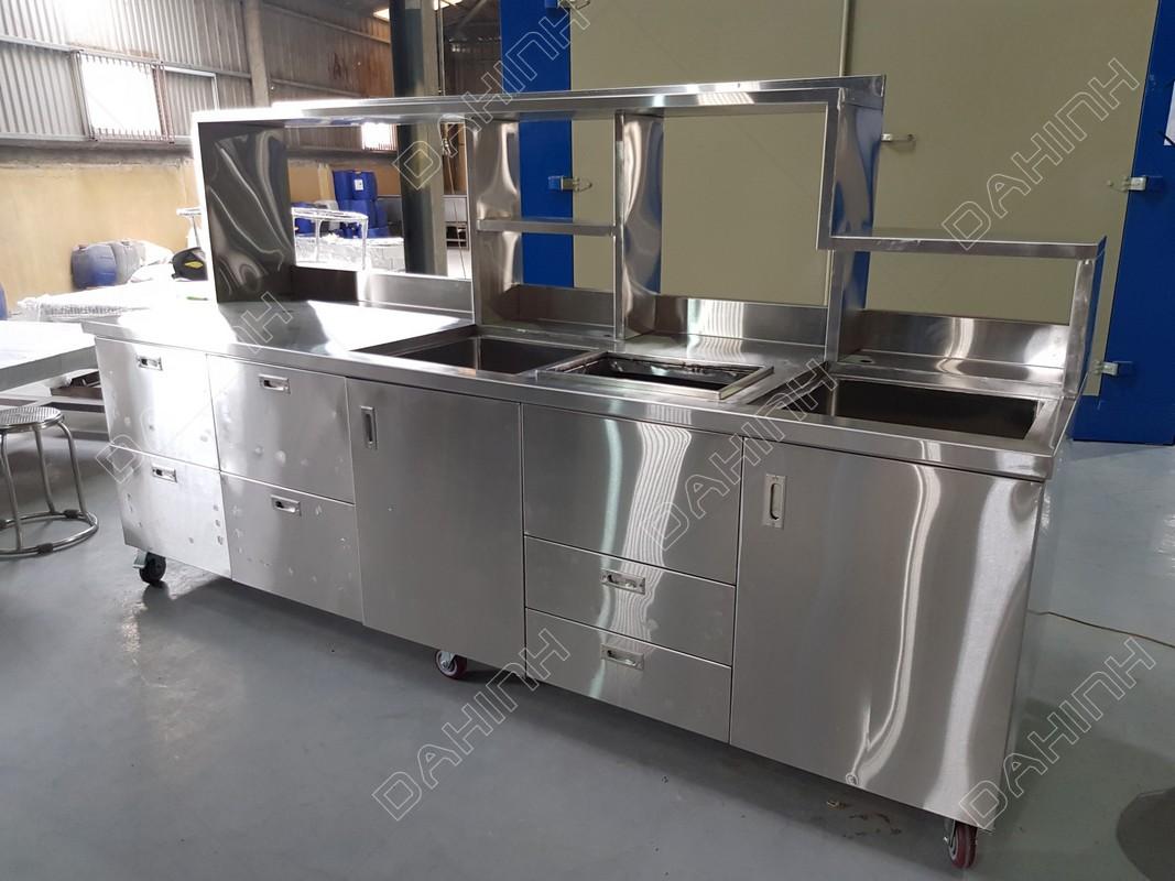 Nhận gia công thiết bị bếp inox304 theo yêu cầu