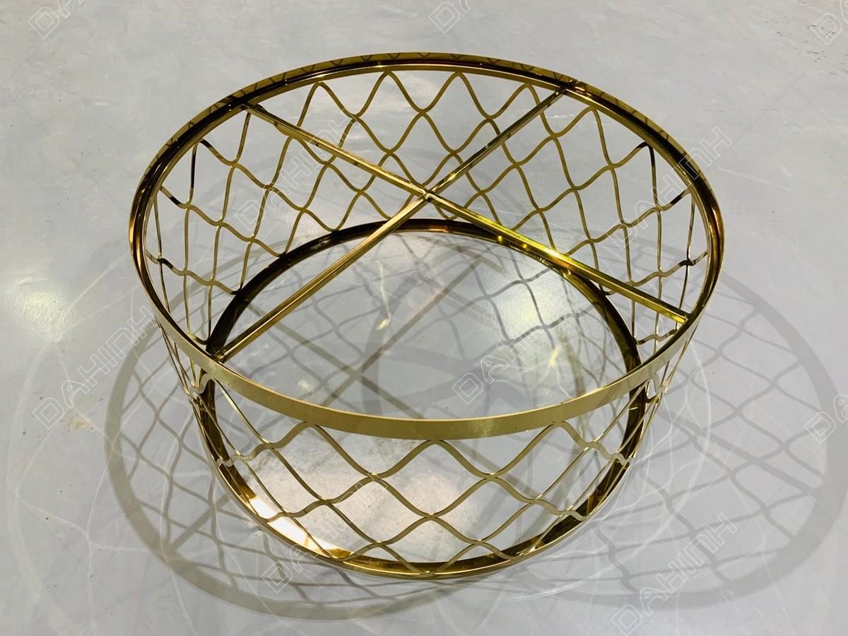 Khung Bàn trà inox mạ vàng tại Đa Hình