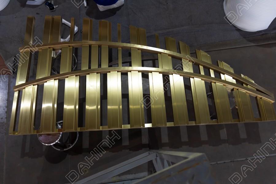 cắt laser vách ngăn cnc inox mạ vàng hải phòng