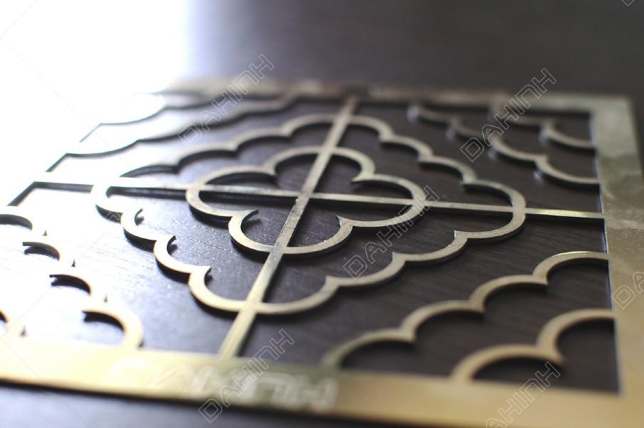 Cắt laser CNC hoa văn inox mạ vàng theo yêu cầu
