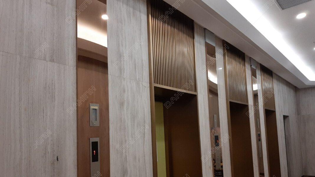 Ốp inox thang máy màu đồng