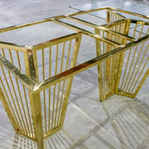 Gia công mạ bàn ăn khung inox mạ vàng