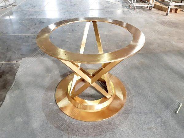 Khung bàn trà inox Mạ PVD gia công tại Đa Hình