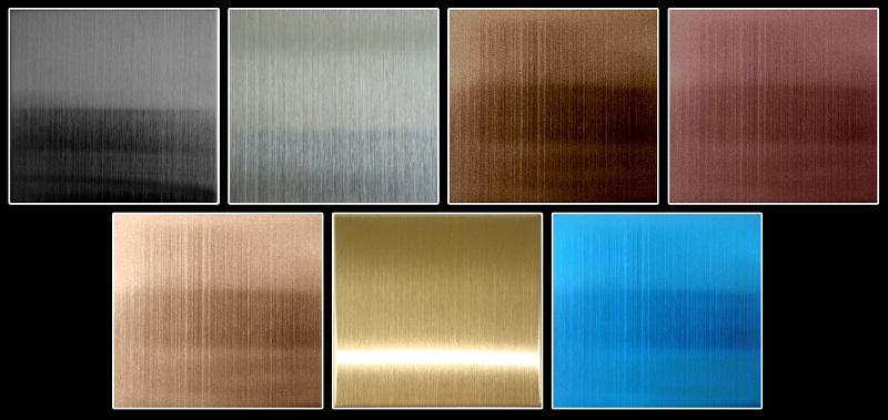 Sự đa dạng về màu sắc khiến inox tấm màu trở nên nổi bật so với inox nguyên bản