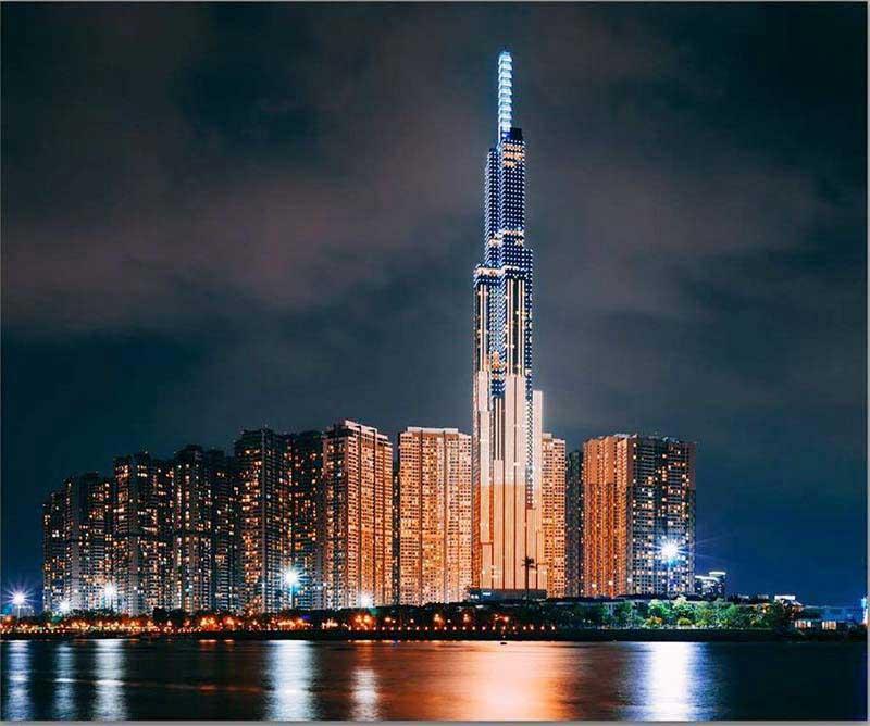 Landmark 81 là công trình kiến trúc bằng thép cao nhất và nổi tiếng nhất Việt Nam