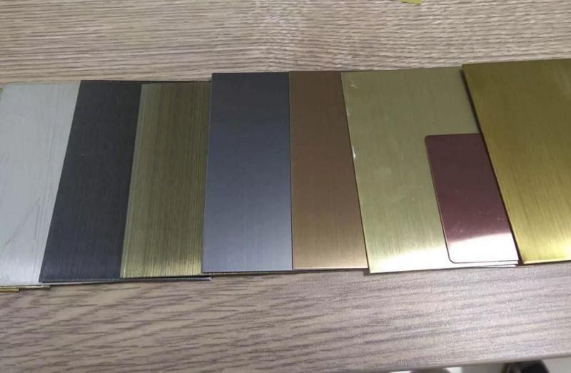 Hệ thống màu sắc đa dạng của inox màu chống bám vân tay