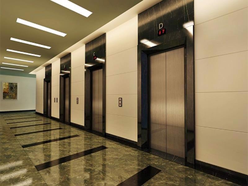 Inox xước rối màu được sử dụng nhiều trong gia công, trang trí thang máy
